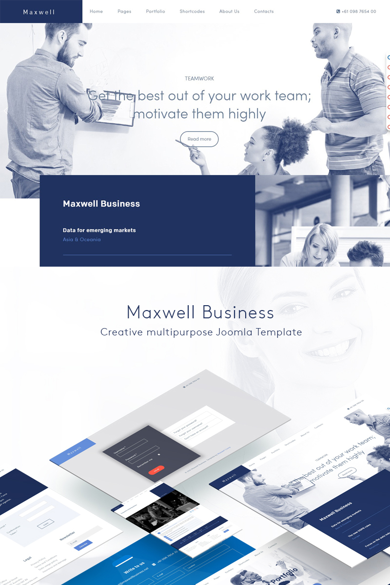 Responsywny szablon Joomla Maxwell Business #74804