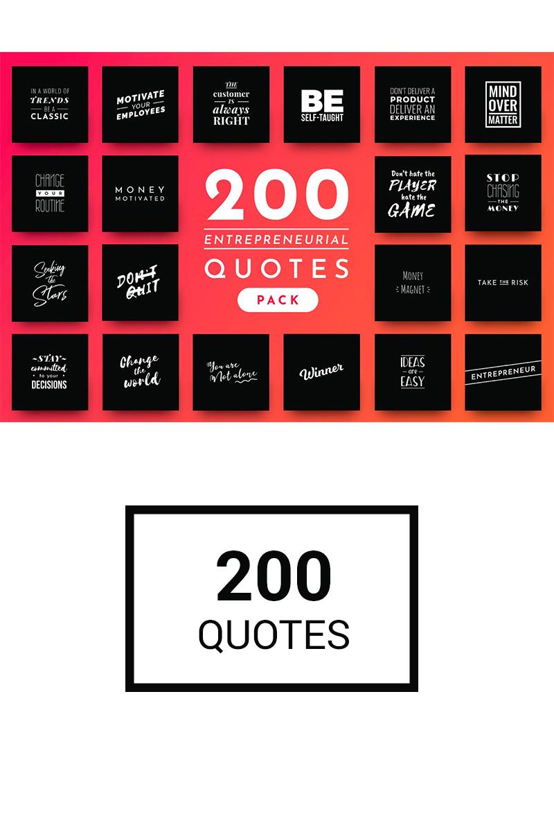 """Sociální sítě """"200 Ready-to-Use Entrepreneurial Quotes"""" #74803 - screenshot"""