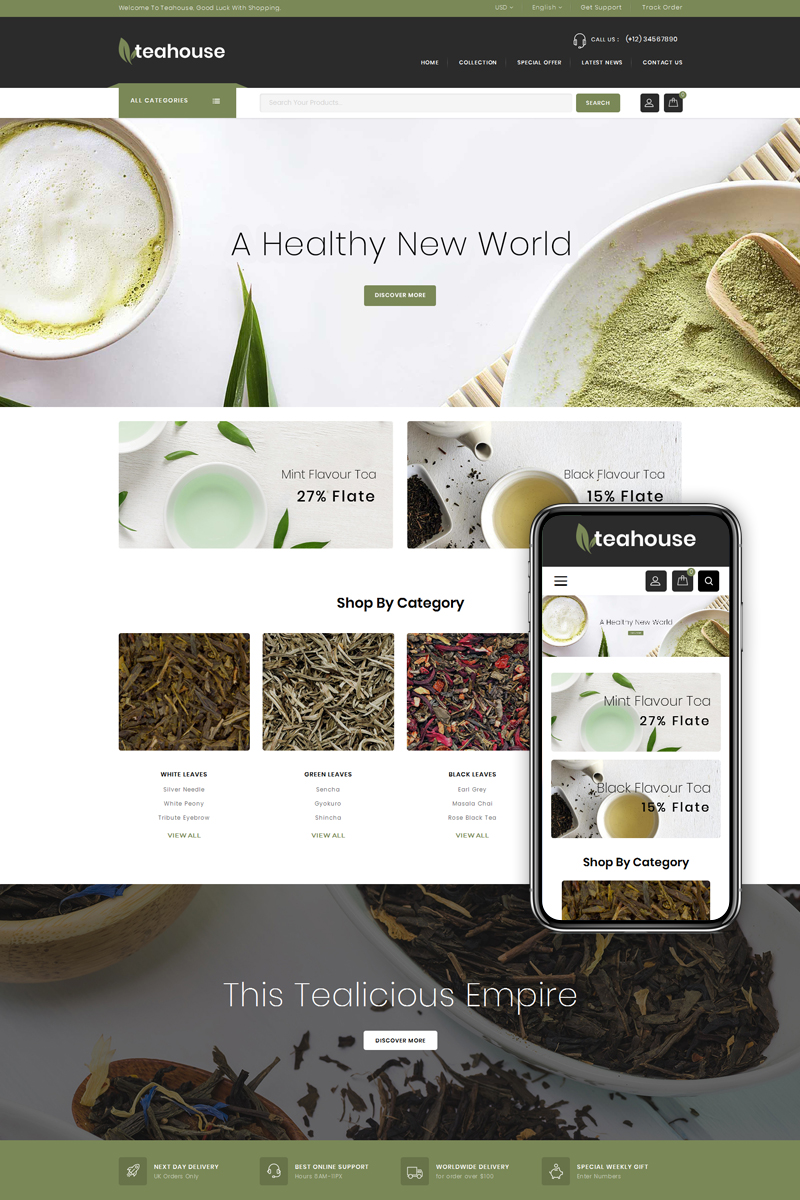 Teahouse - Multipurpose Store Magento sablon 74818