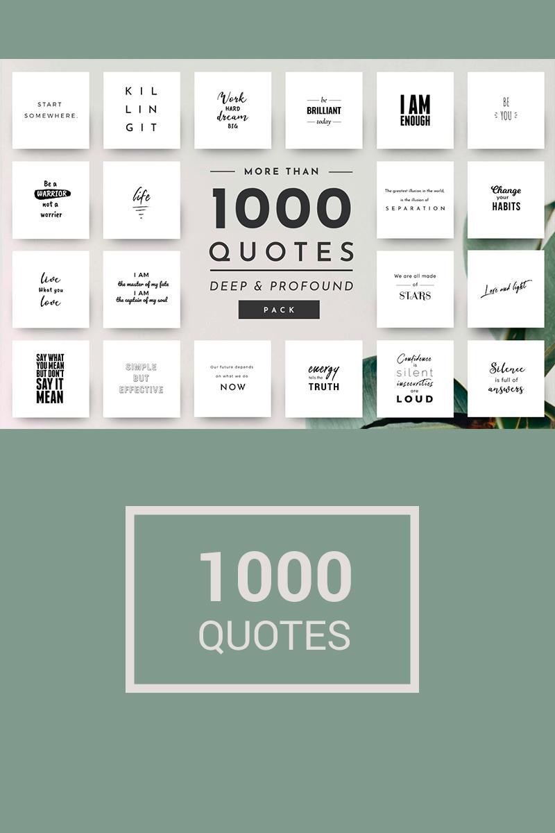 """""""1,000 Unique and Elegant Quotes"""" média social  #74811 - screenshot"""