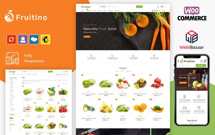 Fruitino Food amp Grocery Store WooCommerce Theme