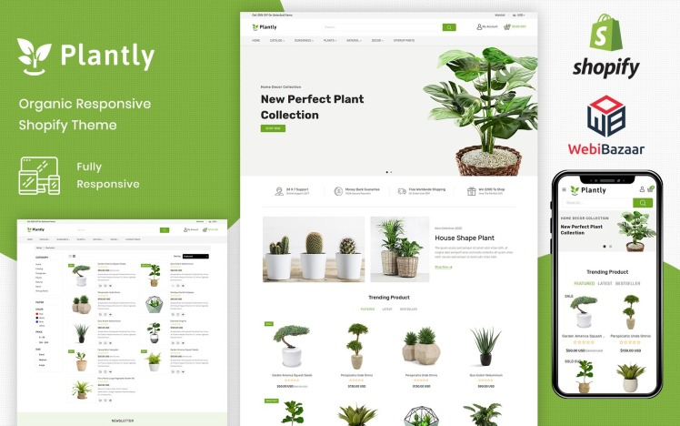 Plantly Gardan Furniture Responsive Shopify Template Shopify Theme