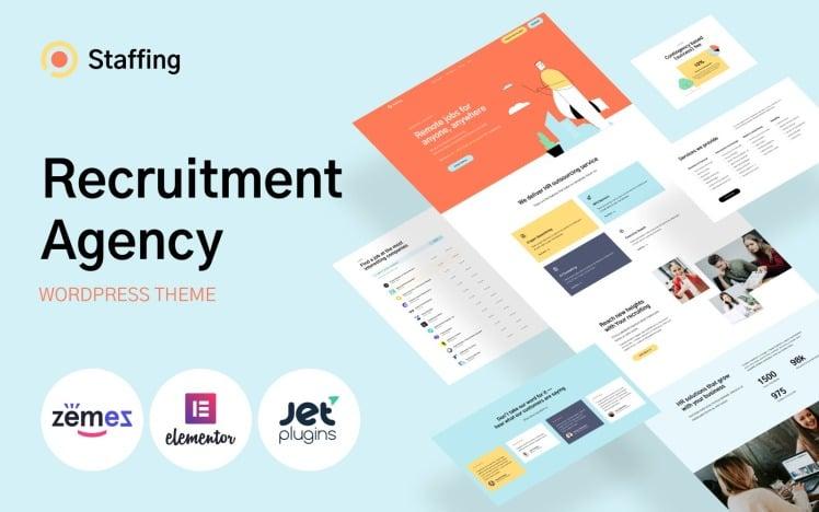 Staffing Recruitment Agency Website Template WordPress Theme