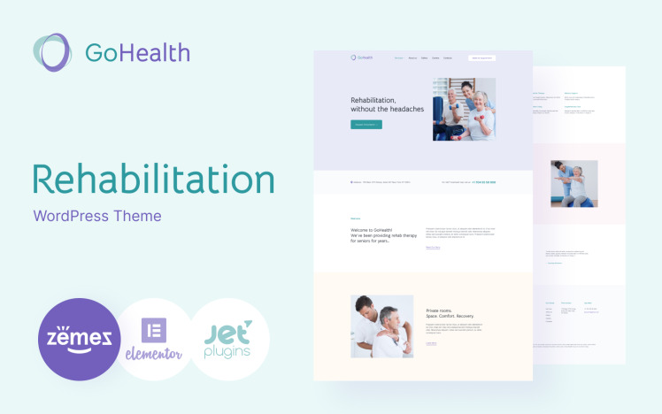 GoHealth Rehabilitation Website Template WordPress Theme