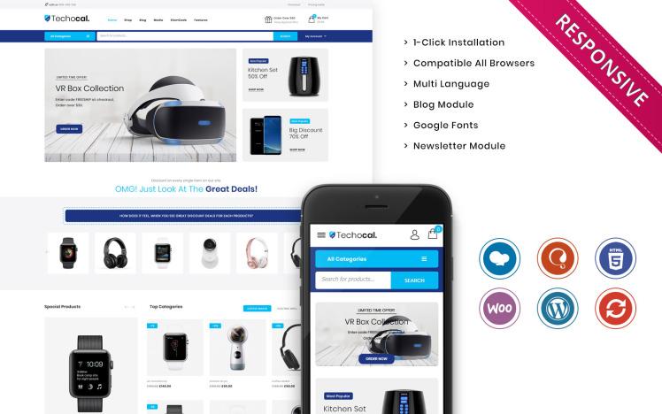 Techocal The Premium Electronic Store WooCommerce Theme