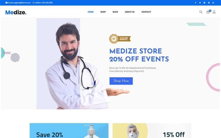 Medize Medical Health WooCommerce Theme