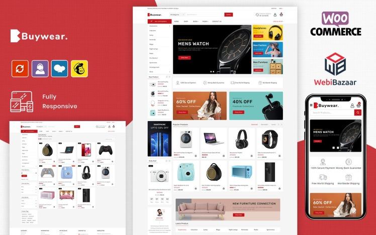 Buywear Multipurpose Minimal Online ECommerce WooCommerce Theme