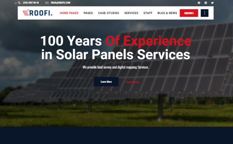 Roofi Alternative amp Renewable Energy WordPress Theme