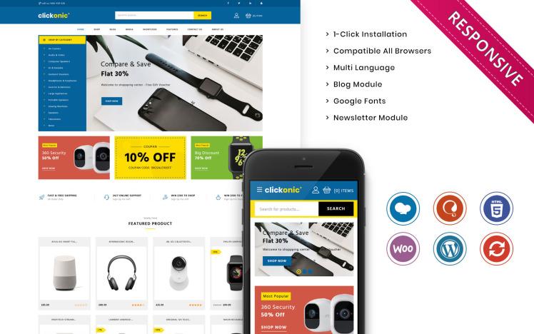 Clickonic The Mega Electronic Store WooCommerce Theme