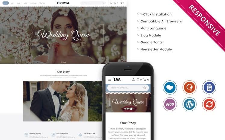 Lovewed The Wedding Store Responsive WooCommerce Theme