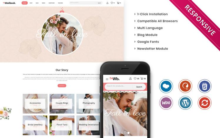 Wedbook The Wedding Store Responsive WooCommerce Theme