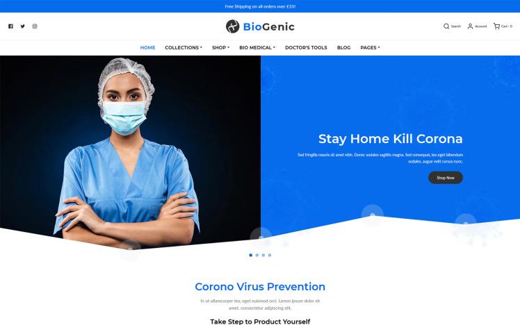 BioGenic Medical Health Care Shopify Theme