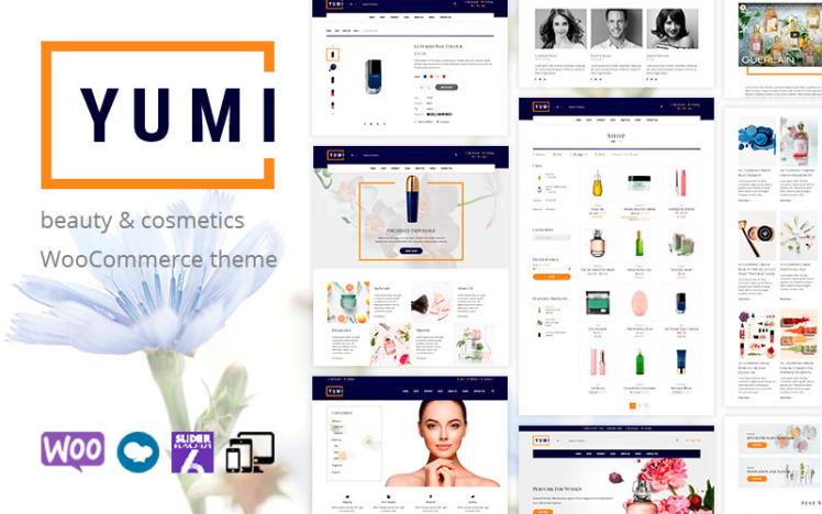 Yumi beauty amp cosmetics WooCommerce Theme