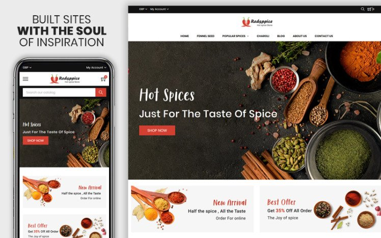 Redspice The Hot Spice Responsive Shopify Theme