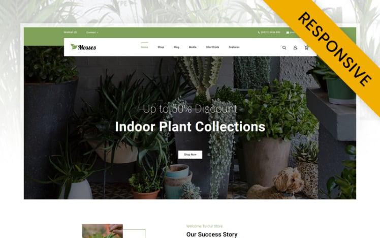 Mosses Garden Plant Store WooCommerce Theme