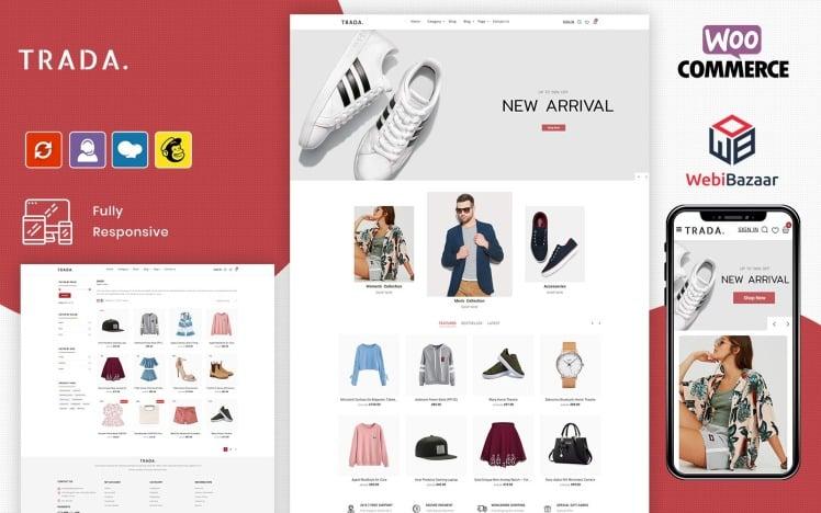 Trada Fashion Shop Design WooCommerce Theme