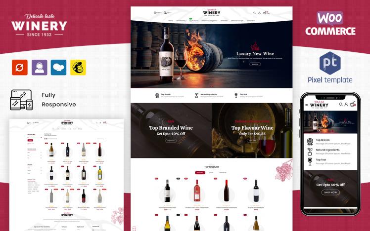 Winery Liquor Store amp Wine Shop WooCommerce Theme