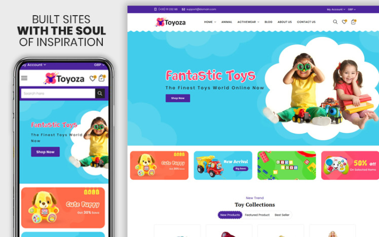 Toyoza The Kids toys store Shopify Theme