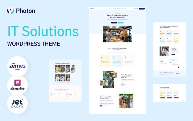 Photon IT Solutions WordPress Theme