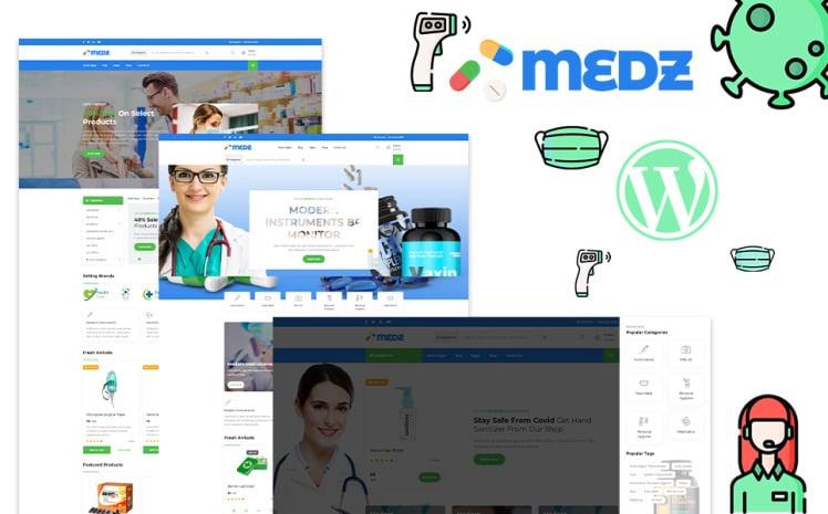 Medz Medical Shop and Medical Equipment WordPress Theme