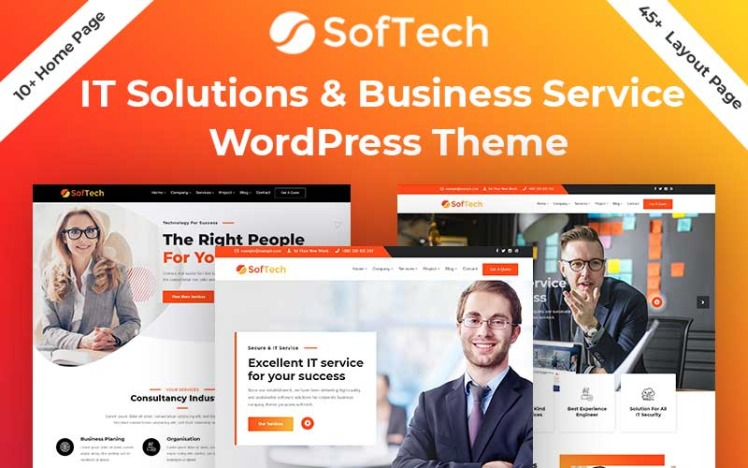 Softech IT Solution amp Business Service WordPress Theme