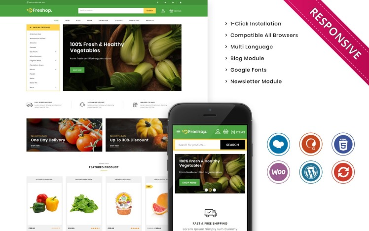 Freshop The Grocery Store Responsive WooCommerce Theme