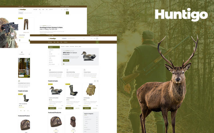 Huntigo Hunting amp Ammunition WordPress Theme