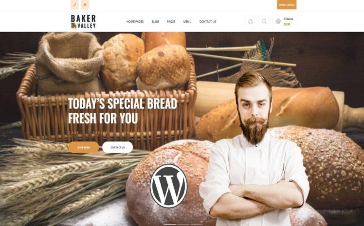 Baker Valley Bakery and Pastry Shop WordPress Theme