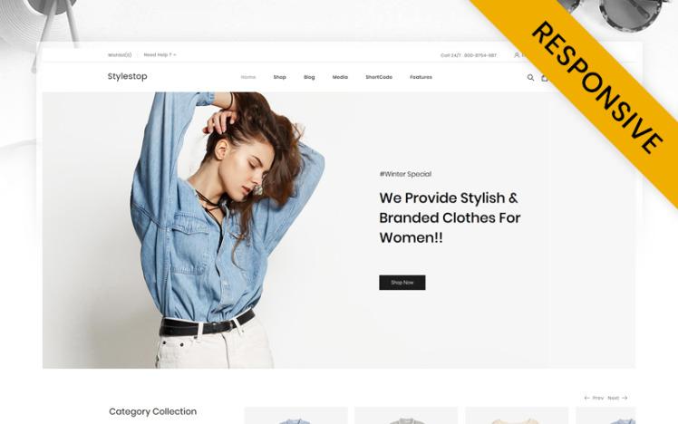 Stylestop Minimal Fashion Store WooCommerce Theme