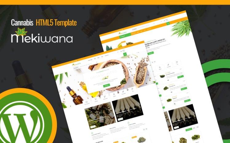 Mekiwana Medical Cannabis Shop WordPress Theme