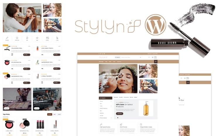 Stylyn Cosmetic And Beauty Shop WordPress Theme