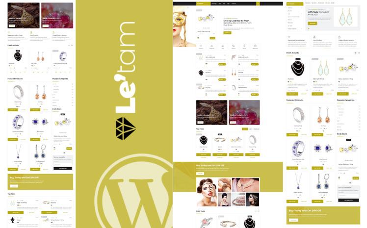 Letam Jewelry Shop WordPress Theme