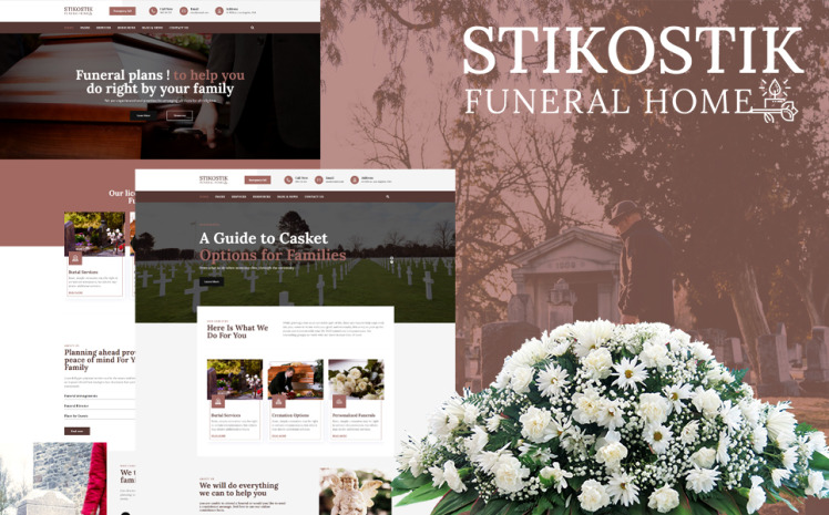 Stikostik Funeral Home WordPress Theme