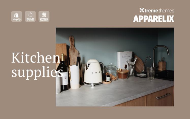 Apparelix Kitchen Supplies Shopify Theme