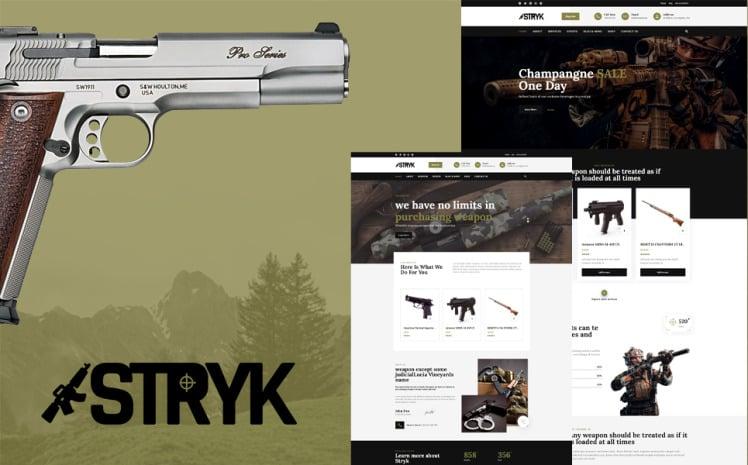 Stryk Gun Range WordPress Theme