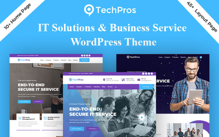 Techpros Technology amp Business Service WordPress Theme