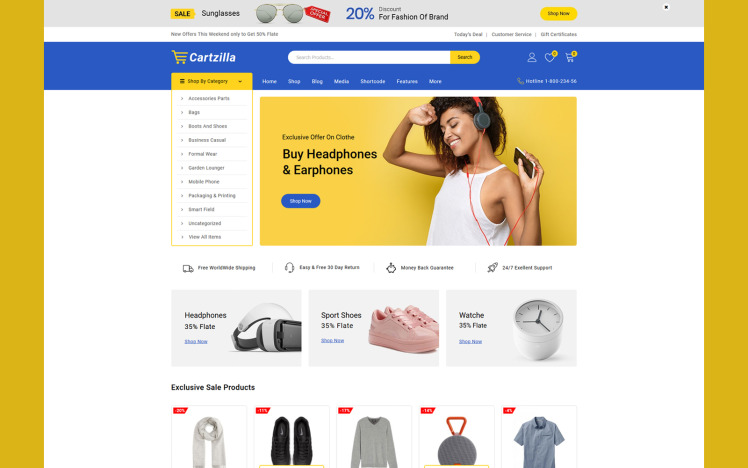 Cartzilla Multipurpose WooCommerce Theme