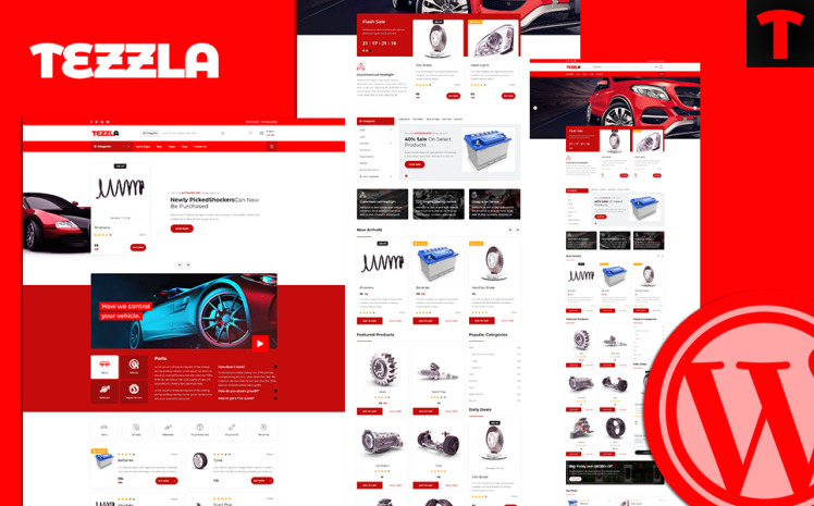 Tezzla Automobile amp Car Accessories Shop WordPress Theme