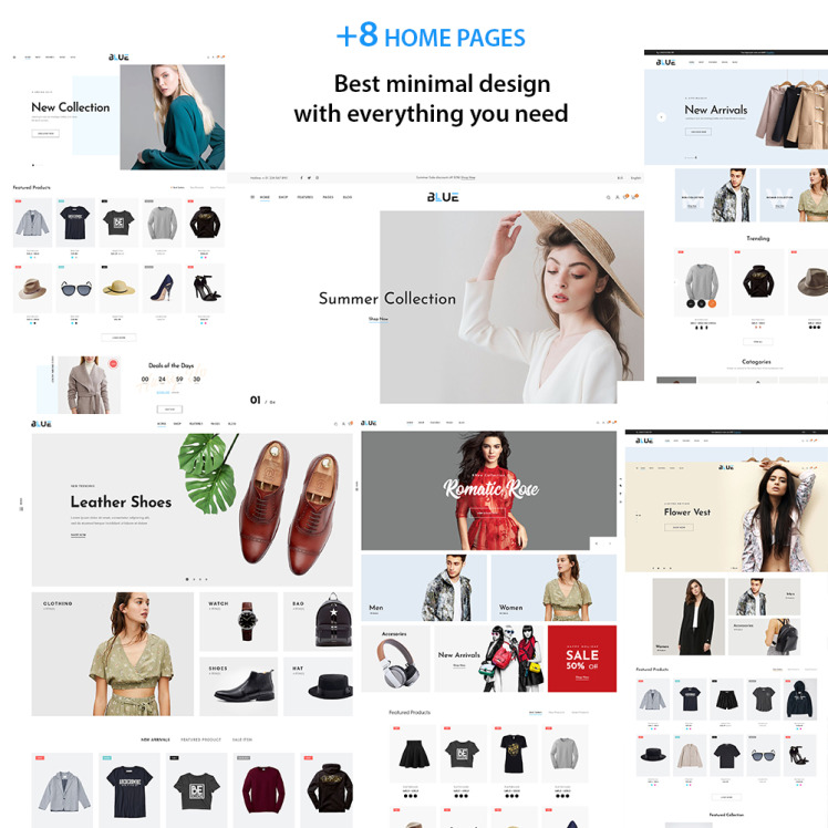 Blue Fashion Store Shopify Theme