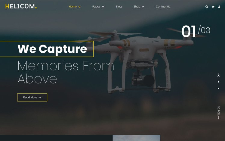 Helicom drone and copter WordPress Theme