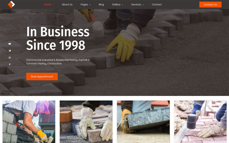 RockLane Paving Contractor WordPress Theme