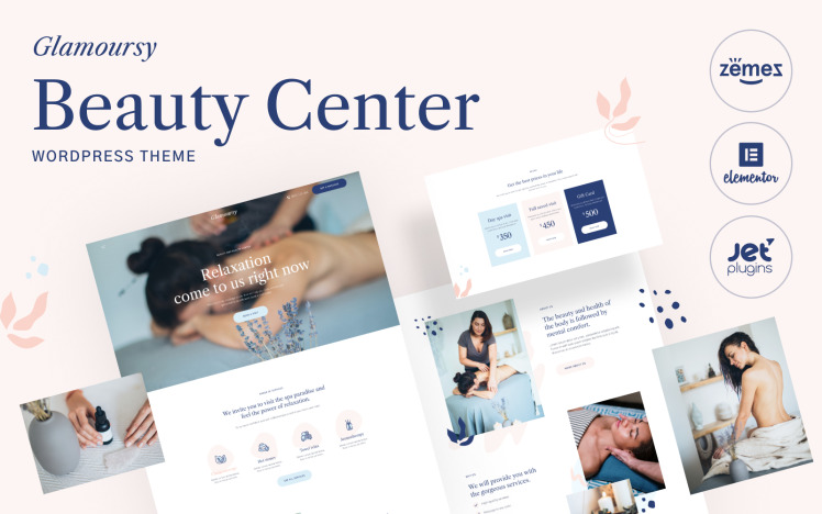 Glamoursy Beauty Hair and Spa Salon WordPress Theme