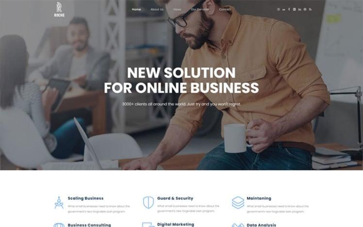 Roche Business Consulting WordPress Theme