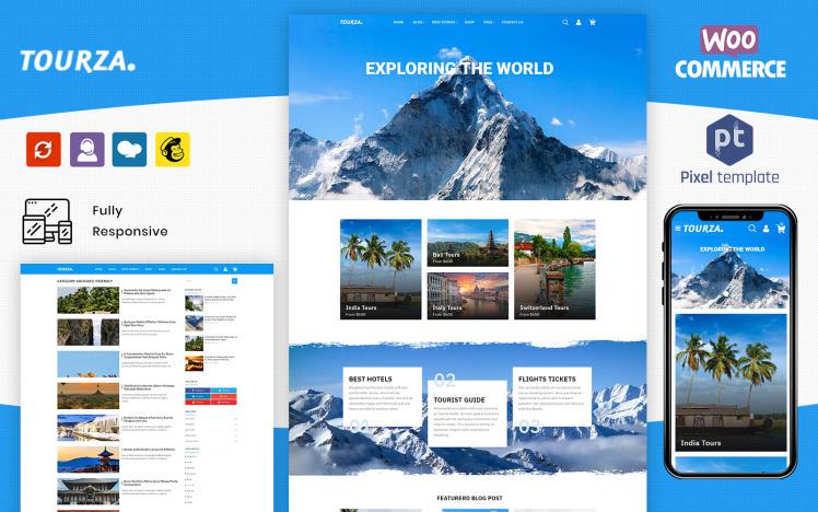 Tourza Tour amp Travel Agency Template WordPress Theme