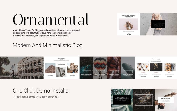 Ornamental MultiConcept Responsive Blog WordPress Theme