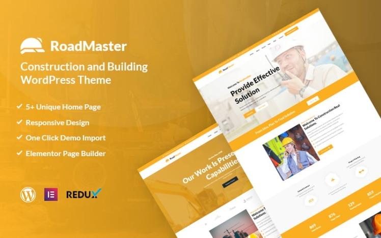 Roadmaster Construction and Building WordPress Theme
