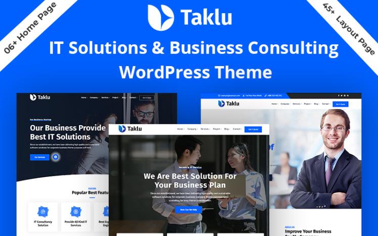 Taklu Technology Business Service WordPress Theme