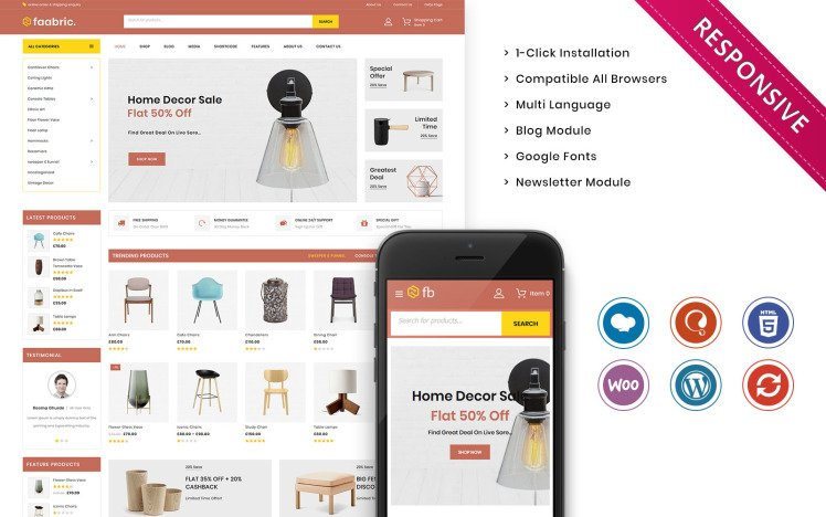 Faabric The Furniture Store Responsive WooCommerce Theme