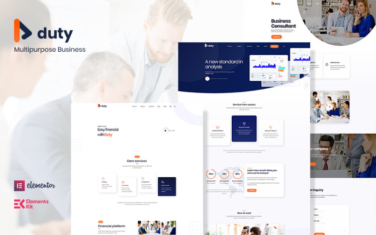 Duty Multipurpose Business WordPress Theme