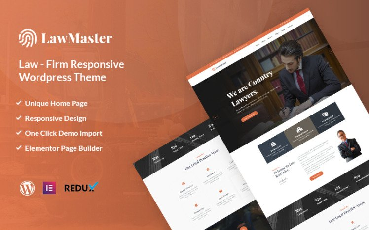 Lawmaster Lawyer Attorney and Law Office WordPress Theme
